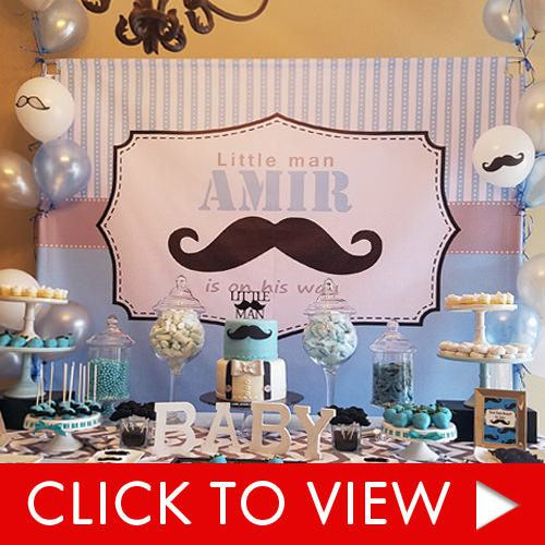 Baby Shower Background - Little Man Theme
