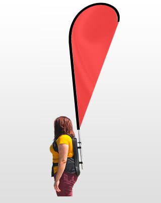 backpack blade flag