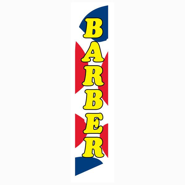 High quality and low-cost outdoor advertising Barber Shop feather flag