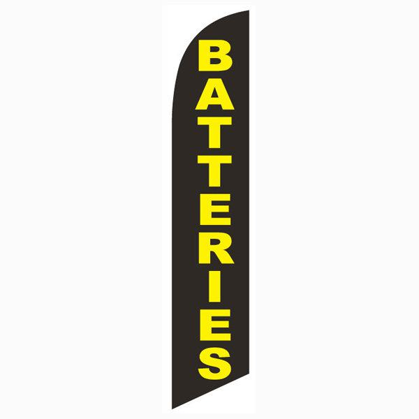 Batteries feather flag for your outdoor advertising banner needs