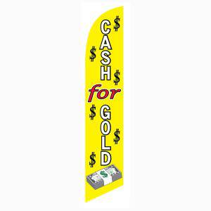 Use this Cash for gold feather flag outside your shop to bring more sellers