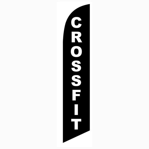 Outdoor advertising Crossfit feather banner flag for authorized businesses
