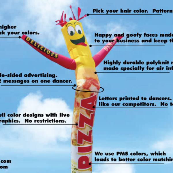 Custom Air Inflatable Tube Man - full color, made in the USA.