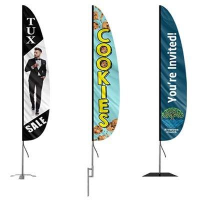 SMOG CHECK Flutter Feather Flag Blade Banner 30/% Wider SUPER SWOOPER