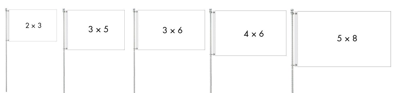 custom-standard-flags-sizes
