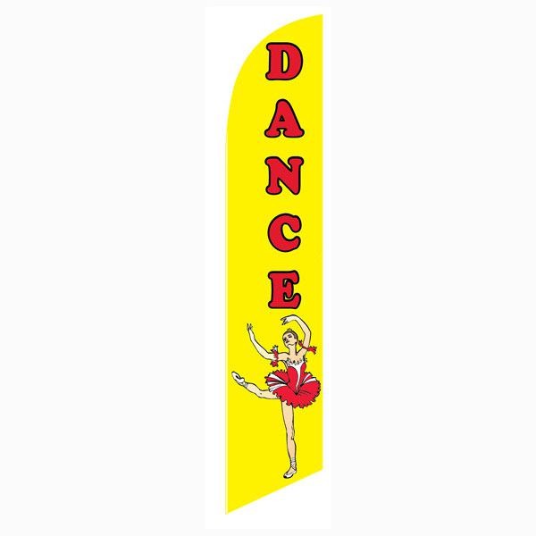 Dance feather flag to increase enrollment and exposure of your location