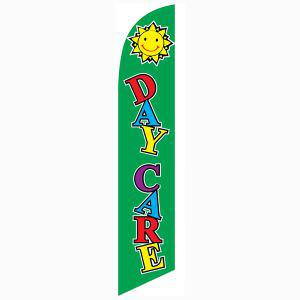 Our Daycare green feather flag is a must have for all daycare owners