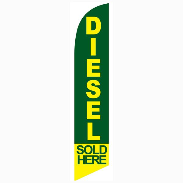 Diesel Sold Here feather flag for a diesel supplying gas stations and stops