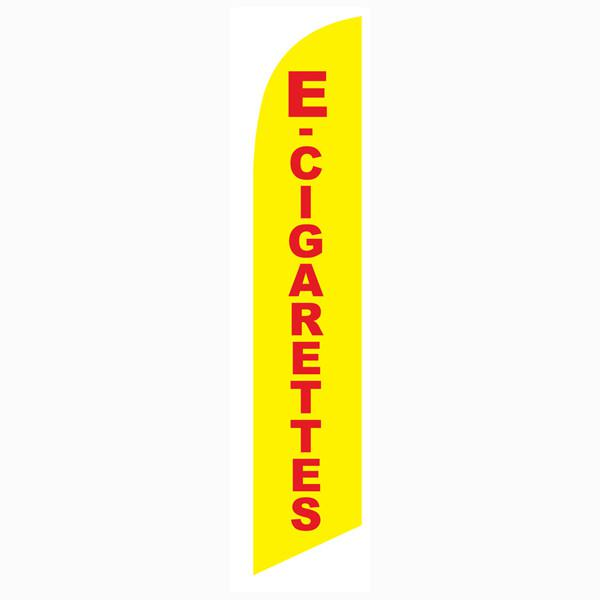 Low-cost high quality outdoor advertising E-cigarettes Vape feather flag