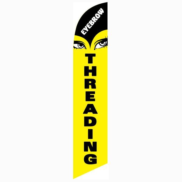 Eyebrow Threading feather flag for your outdoor advertising banner needs
