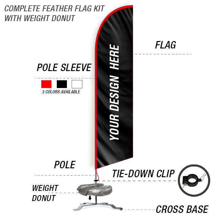 10ft feather flag 12ft kit ffn. Black Bedroom Furniture Sets. Home Design Ideas