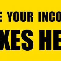 File Your Income Taxes Here Sign Banner 4X8