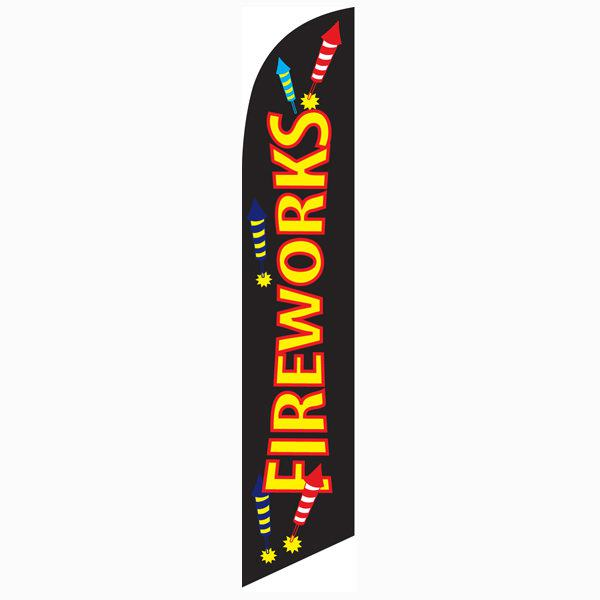 Outdoor advertising Fireworks feather banner flag that can easily be mounted