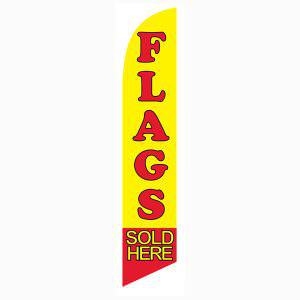 Flags Sold Here feather flag Yellow and Red Swooper Banner 12 ft Length