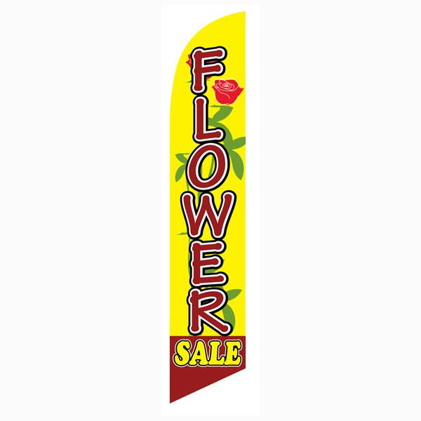 Use this Flower Sale feather flag on your business patio or lawn