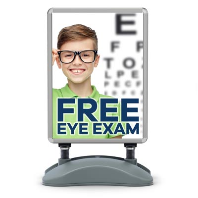 free-eye-exam-water-base-sign