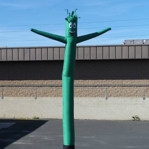 Dark Green Inflatable Tube Man air powered dancer