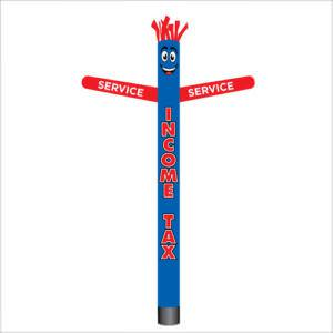 Patriotic Income Tax Service air dancer inflatable tube man.