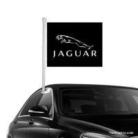 Jaguar Window Clip-On Flag