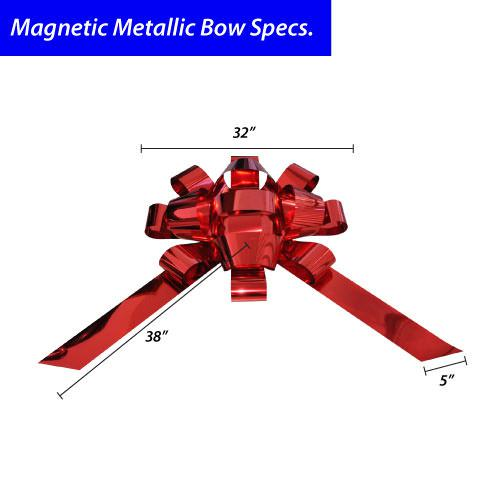 Size specifications for Feather Flag Nation's jumbo magnetic car bows.