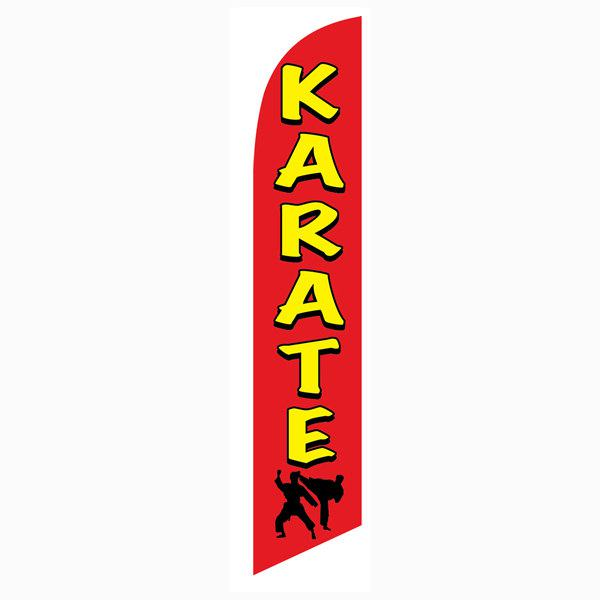 Use this Karate feather flag at the intersection of your shopping center