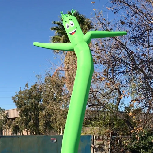Lime Green Inflatable Tube Man Dancer air powered dancer