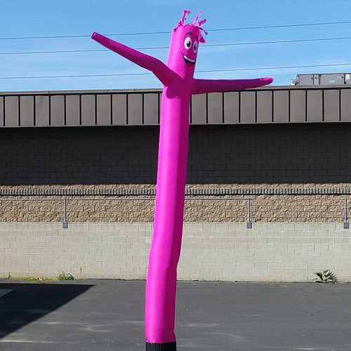 Hot Pink Inflatable Tube Man air powered dancer
