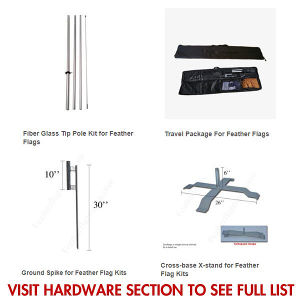 Save Money here feather flag