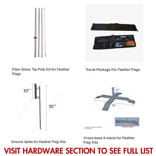 [DISCONTINUED] Compre Aque Pague Aqui feather flag