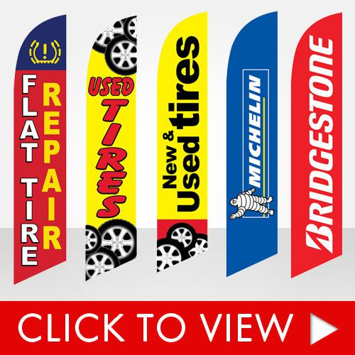 Stock flags for new and used tire shops
