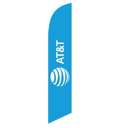 New AT&T logo feather flag