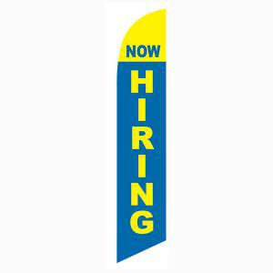Now Hiring feather flag for all new and existing businesses who need help