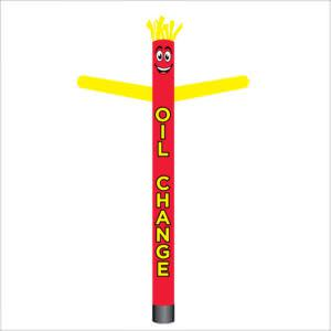 Red and yellow Oil change air dancer inflatable tube man.