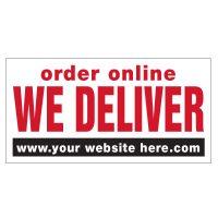 Order Online We Deliver Vinyl Banner