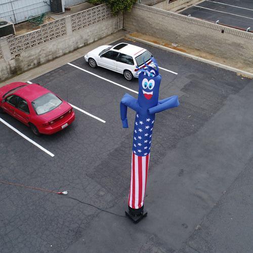 52f7a285f09 American Flag USA 20ft Inflatable Tube Man