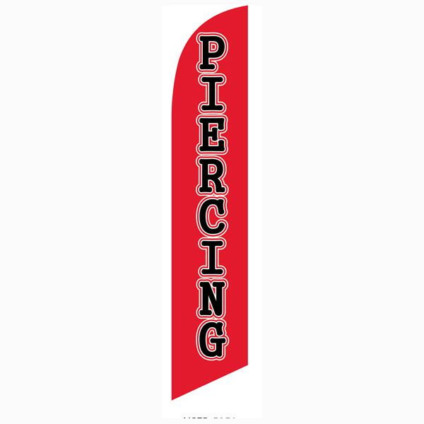 Piercing feather flag to use as your outdoor advertising bannner