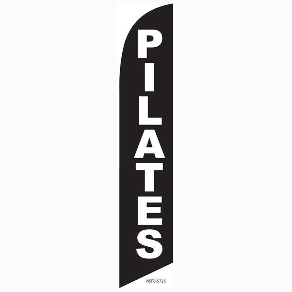 Pilates feather flag is a must have for all fitness centers