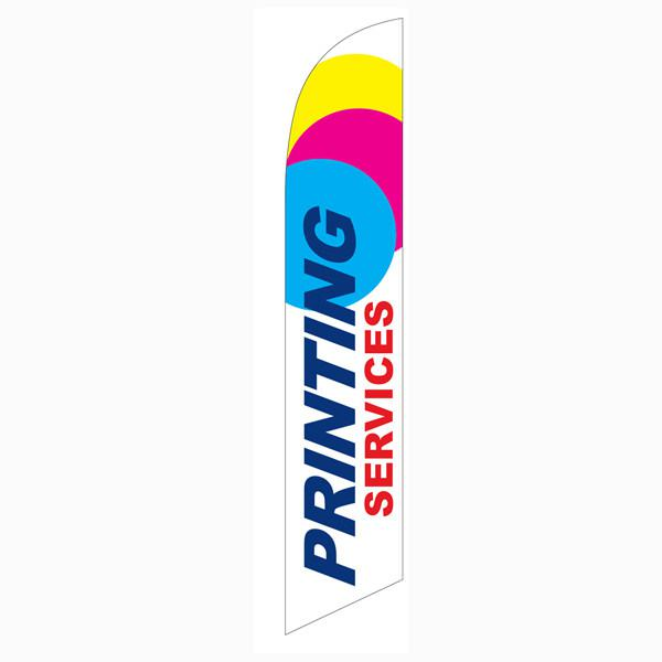 Printing Services feather flag CMYK Design 12ft Swooper Banner