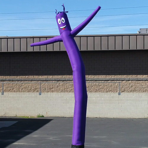 Purple Inflatable Tube Man air powered dancer