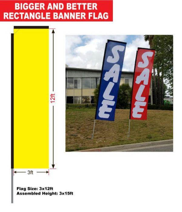stock rectangle flag dimensions and specs