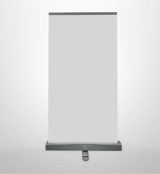 Heavy duty roll-up banner-stand
