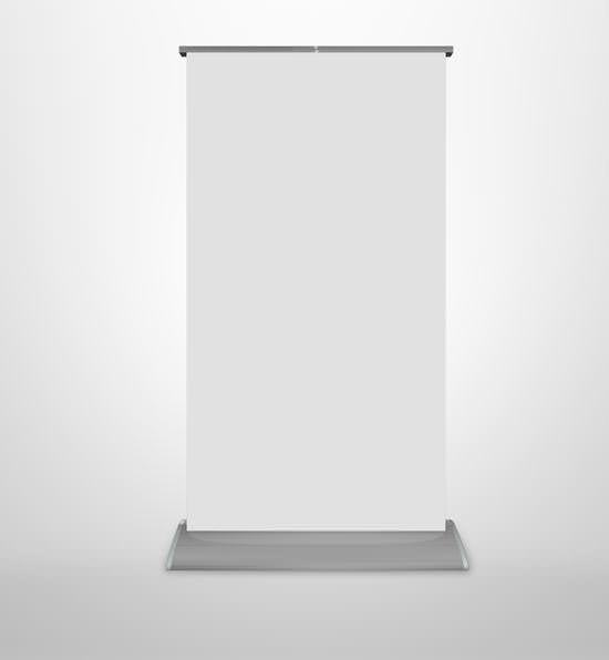 Flat Base Premium Retractable Banner Stand