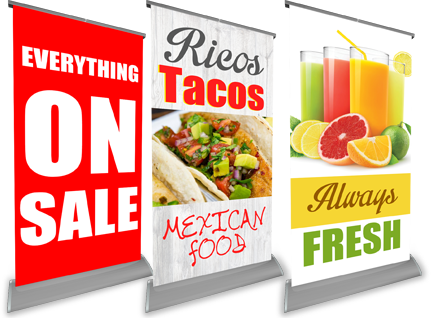 Retractable Banners & Roll-up Stands for Trade Shows