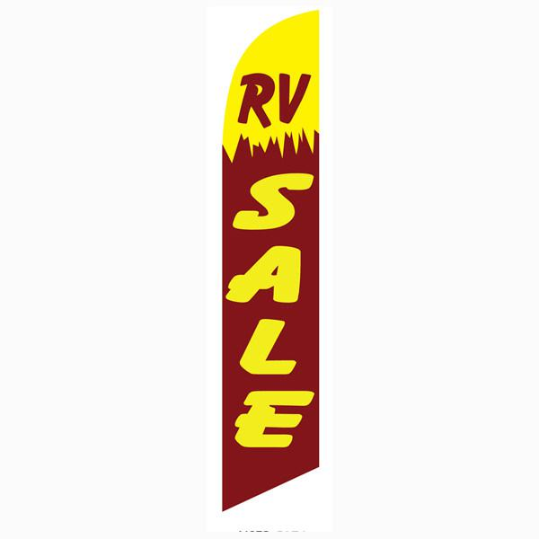Rv Sale Feather Flag Is A Yellow And Reddish Purple
