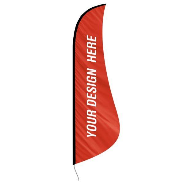 shark fin custom feather banner flag