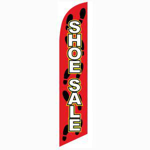 Shoe Sale feather flag for your outdoor promotional needs