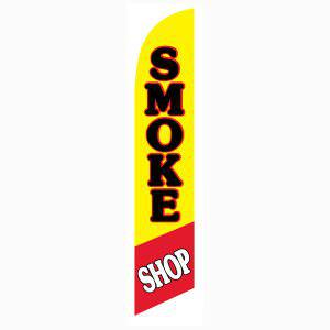 Smoke Shop feather flag to advertise your business on a budget