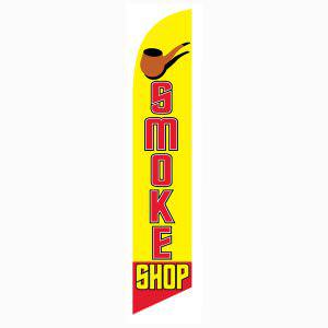 Our most popular Smoke Shop banner flag for outdoor advertising