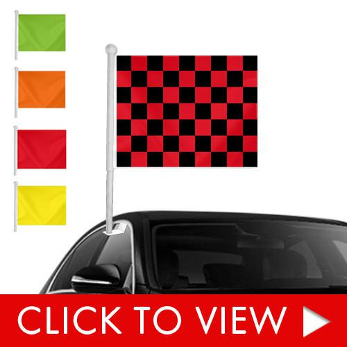 Stock Window Clip on Flags