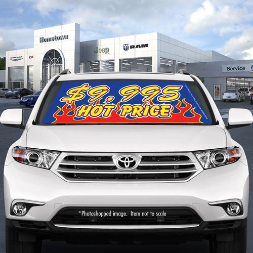 Hot Price car windshield banners